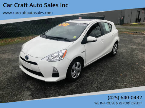 2012 Toyota Prius c for sale at Car Craft Auto Sales Inc in Lynnwood WA