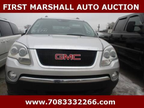 2010 GMC Acadia for sale at First Marshall Auto Auction in Harvey IL