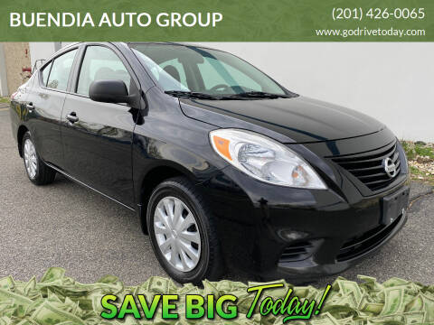 2013 Nissan Versa for sale at BUENDIA AUTO GROUP in Hasbrouck Heights NJ