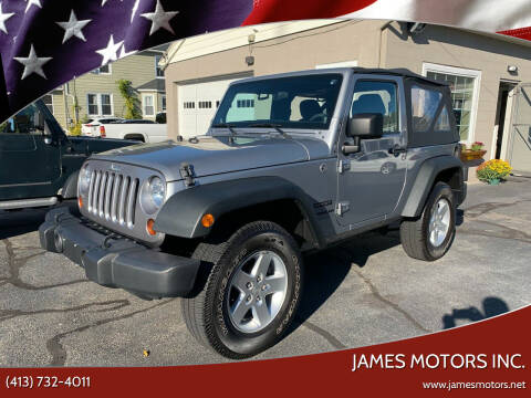 2013 Jeep Wrangler for sale at James Motors Inc. in East Longmeadow MA