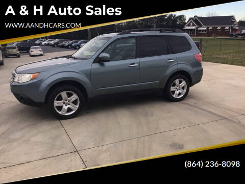 2010 Subaru Forester for sale at A & H Auto Sales in Greenville SC