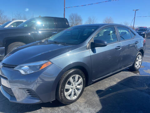 2015 Toyota Corolla for sale at EAGLE ONE AUTO SALES in Leesburg OH