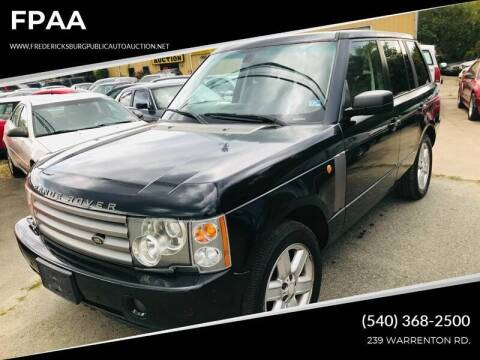 2005 Land Rover Range Rover for sale at FPAA in Fredericksburg VA