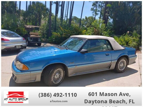 1987 Ford Mustang for sale at A7 AUTO SALES in Daytona Beach FL