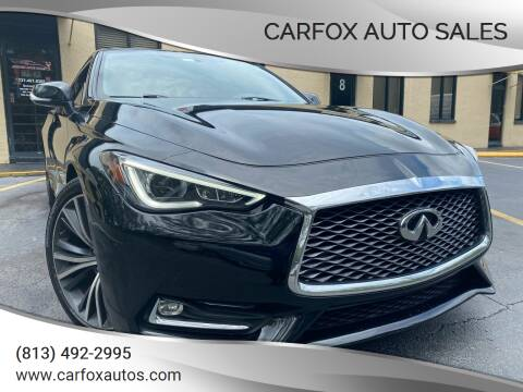 2017 Infiniti Q60 for sale at Carfox Auto Sales in Tampa FL