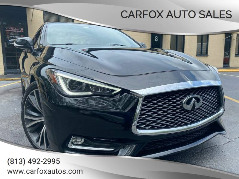 2017 Infiniti Q60 for sale at Carfox Auto Sales in Tampa FL