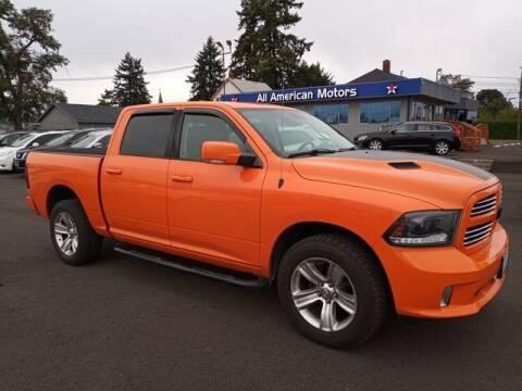 2015 RAM Ram Pickup 1500 for sale at All American Motors in Tacoma WA