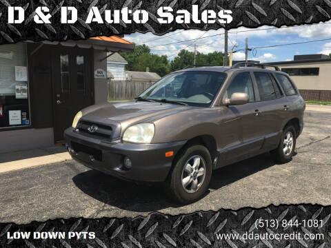 2005 Hyundai Santa Fe for sale at D & D Auto Sales in Hamilton OH