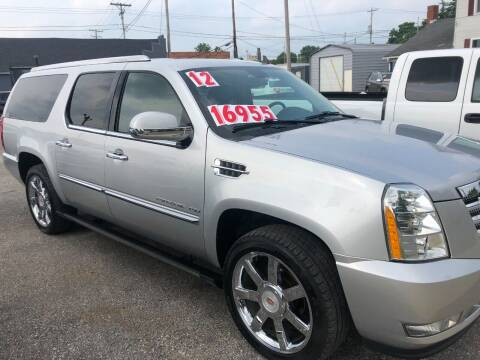 2012 Cadillac Escalade ESV for sale at Kramer Motor Co INC in Shelbyville IN