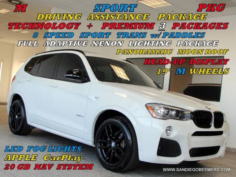 2017 BMW X3 for sale at SAN DIEGO BEEMERS in San Diego CA