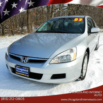2007 Honda Accord for sale at Chicagoland Internet Auto - 410 N Vine St New Lenox IL, 60451 in New Lenox IL