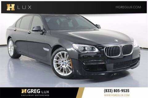 2015 BMW 7 Series for sale at HGREG LUX EXCLUSIVE MOTORCARS in Pompano Beach FL