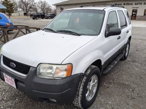 2003 Ford Escape for sale at Wheel - N - Deal Auto Sales Inc in Fairbury NE