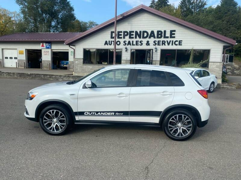 2016 Mitsubishi Outlander Sport for sale at Dependable Auto Sales and Service in Binghamton NY