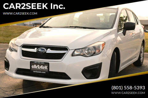2012 Subaru Impreza for sale at CAR2SEEK Inc. in Salt Lake City UT