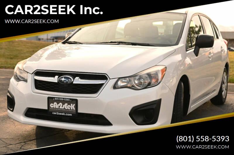 2012 Subaru Impreza for sale at CAR2SEEK Inc. in Salt Lake City UT