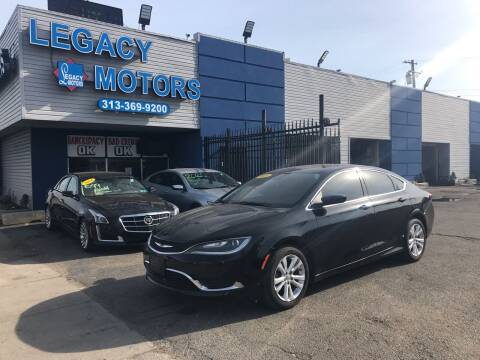 2015 Chrysler 200 for sale at Legacy Motors in Detroit MI