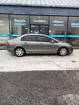 2008 Honda Civic for sale at Georgia Certified Motors in Stockbridge GA