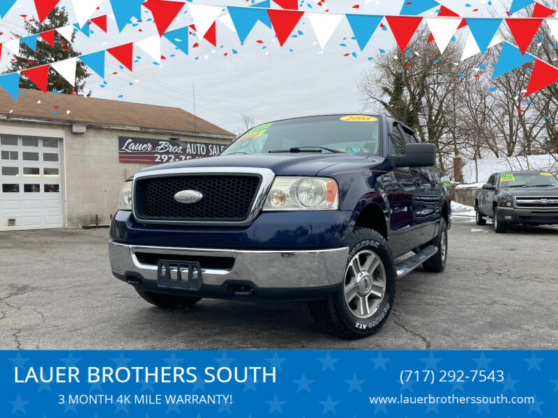 2008 Ford F-150 for sale at LAUER BROTHERS SOUTH in York PA
