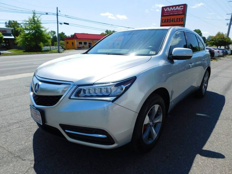 2014 Acura MDX for sale at Cars 4 Less in Manassas VA