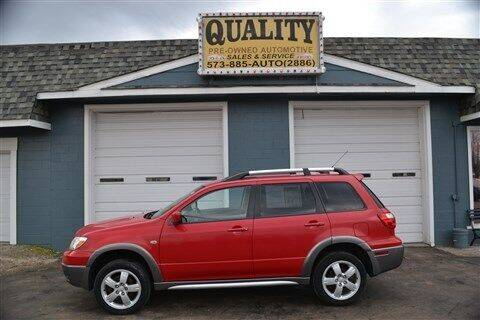 2005 Mitsubishi Outlander for sale at Quality Pre-Owned Automotive in Cuba MO