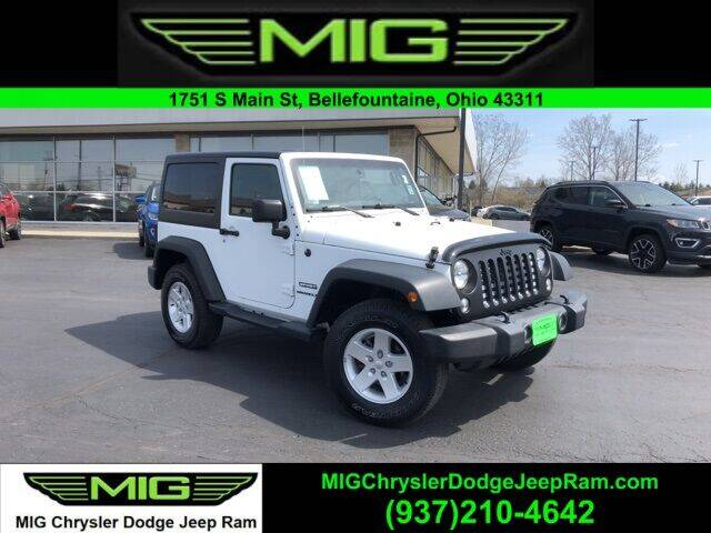 2017 Jeep Wrangler for sale at MIG Chrysler Dodge Jeep Ram in Bellefontaine OH