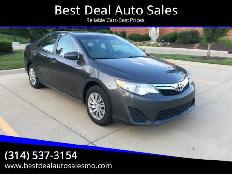 2013 Toyota Camry for sale at Best Deal Auto Sales in Saint Charles MO