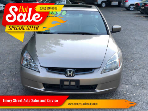 2004 Honda Accord for sale at Emory Street Auto Sales and Service in Attleboro MA
