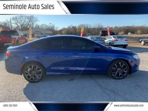 2015 Chrysler 200 for sale at Seminole Auto Sales in Seminole OK