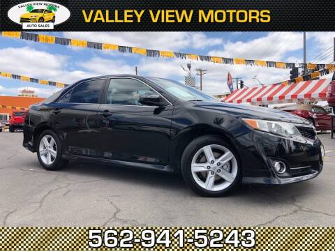 2012 Toyota Camry for sale at Valley View Motors in Whittier CA