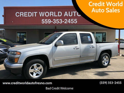 2012 Chevrolet Colorado for sale at Credit World Auto Sales in Fresno CA