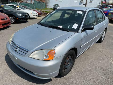2003 Honda Civic for sale at Diana Rico LLC in Dalton GA