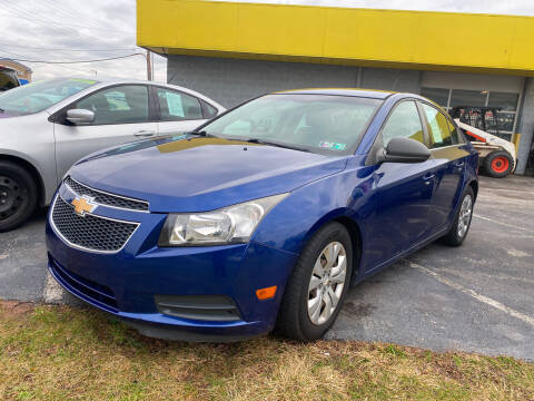 2012 Chevrolet Cruze for sale at McNamara Auto Sales - Kenneth Road Lot in York PA
