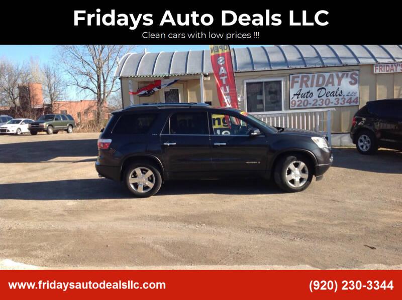 2007 GMC Acadia for sale at Fridays Auto Deals LLC in Oshkosh WI