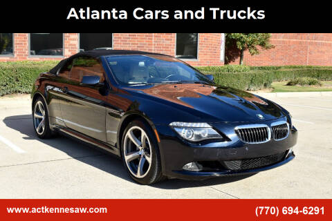 2009 BMW 6 Series for sale at Atlanta Cars and Trucks in Kennesaw GA