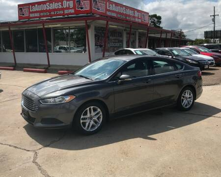 2015 Ford Fusion for sale at LA Auto Sales in Monroe LA