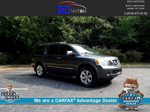 2010 Nissan Armada for sale at Zed Motors in Raleigh NC