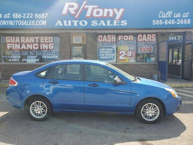 2010 Ford Focus for sale at R Tony Auto Sales in Clinton Township MI