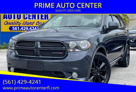 2013 Dodge Durango for sale at PRIME AUTO CENTER in Palm Springs FL