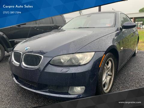 2008 BMW 3 Series for sale at Carpro Auto Sales in Chesapeake VA