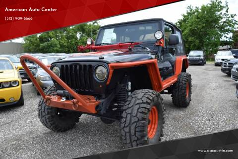 2006 Jeep Wrangler for sale at American Auto Center in Austin TX