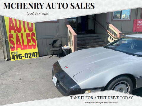 1986 Chevrolet Corvette for sale at McHenry Auto Sales in Modesto CA