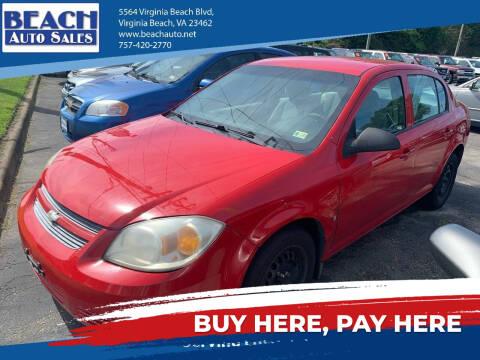 2009 Chevrolet Cobalt for sale at Beach Auto Sales in Virginia Beach VA