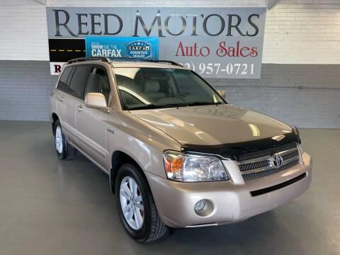2007 Toyota Highlander Hybrid for sale at REED MOTORS LLC in Phoenix AZ