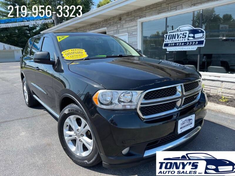 2013 Dodge Durango for sale at Tonys Auto Sales Inc in Wheatfield IN