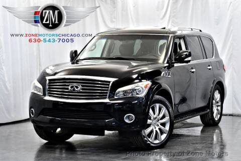 2012 Infiniti QX56 for sale at ZONE MOTORS in Addison IL