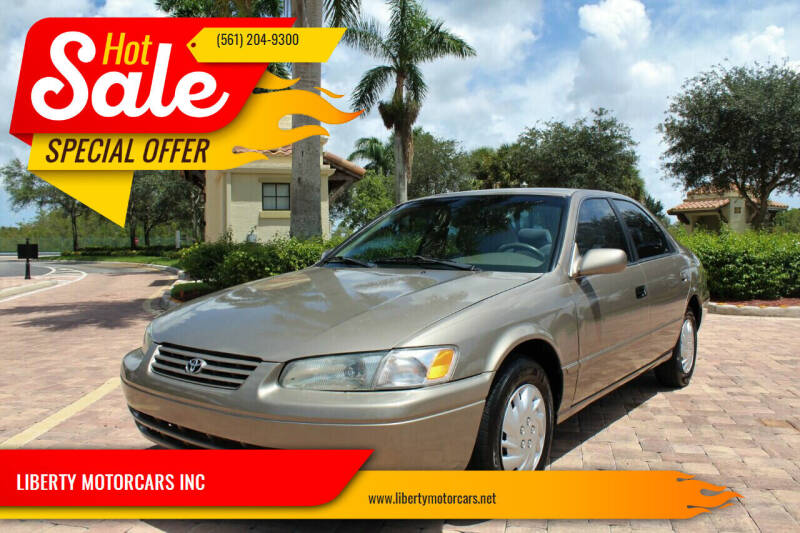 1999 Toyota Camry for sale at LIBERTY MOTORCARS INC in Royal Palm Beach FL