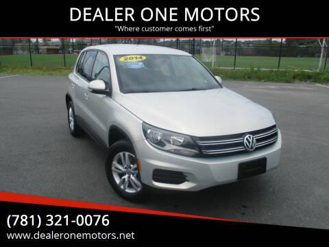 2014 Volkswagen Tiguan for sale at DEALER ONE MOTORS in Malden MA
