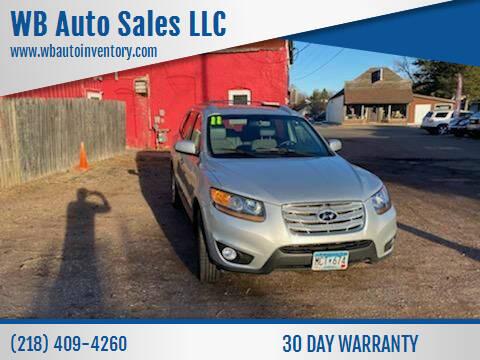 2011 Hyundai Santa Fe for sale at WB Auto Sales LLC in Barnum MN