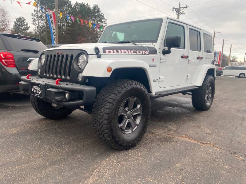 2017 Jeep Wrangler Unlimited for sale at Affordable Auto Sales in Webster WI